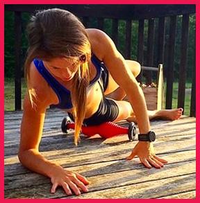 Woman Using Body Roller